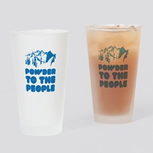 Powder To The People Drinking Glass