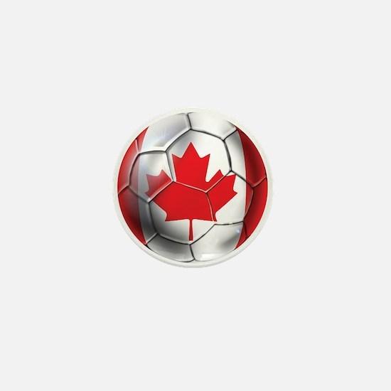 Canada Soccer Ball Mini Button