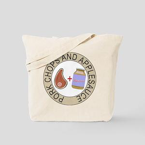 Pork Chops & Applesauce Tote Bag