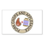 Pork Chops & Applesauce Sticker (Rectangle)