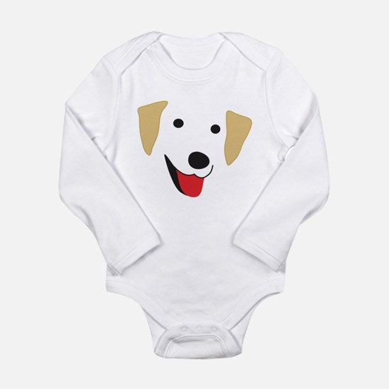 Yellow Lab's Face Onesie Romper Suit