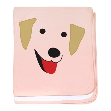 Yellow Lab's Face baby blanket
