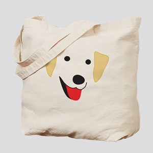 Yellow Lab's Face Tote Bag