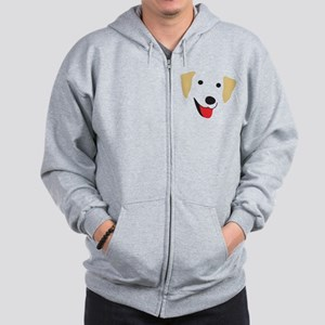 Yellow Lab's Face Zip Hoodie