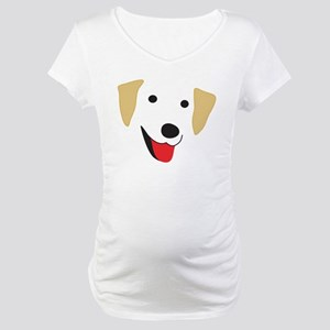 Yellow Lab's Face Maternity T-Shirt