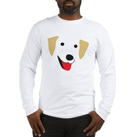 Yellow Lab's Face Long Sleeve T-Shirt