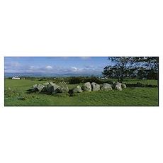 Rocks in a field, Carrowmore, Sligo, Republic of I Poster