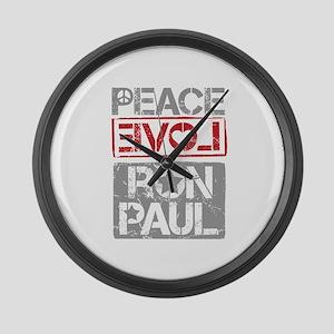 Peace Love Ron Paul Large Wall Clock