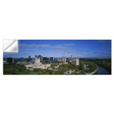 High angle view of a city, Winnipeg, Manitoba, Can Wall Decal