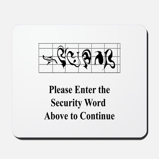 Security Word Mousepad