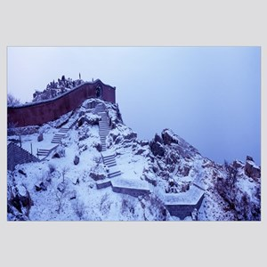 Wall on the top of a mountain, Mount Taishan, Shan