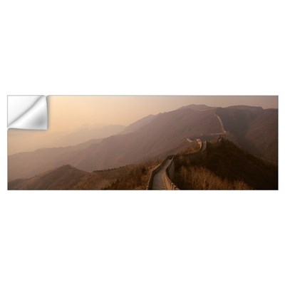 High angle view of the Great Wall Of China, Mutian Wall Decal
