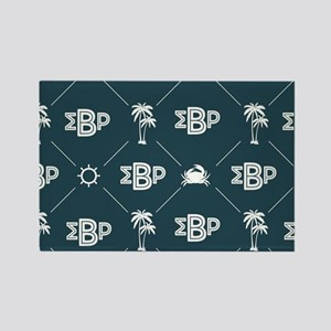Sigma Beta Rho Pattern Blue Rectangle Magnet