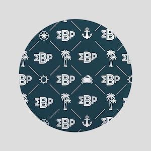 Sigma Beta Rho Pattern Blue Button