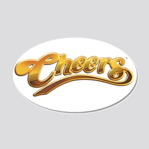 Cheers TV Show Retro 22x14 Oval Wall Peel