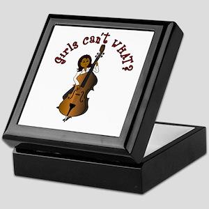 String Upright Double Bass Woman Keepsake Box