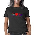pembrokecorgi_peacelove_bl Women's Classic T-Shirt
