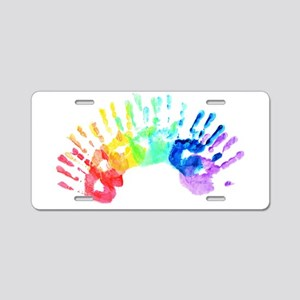 Rainbow Hands Aluminum License Plate