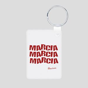Marcia Marcia Marcia Aluminum Photo Keychain