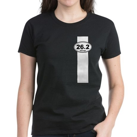 Chicago marathon stripe Women's Dark T-Shirt