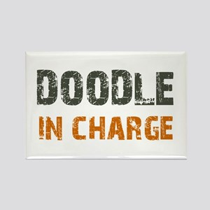 Doodle IN CHARGE Rectangle Magnet