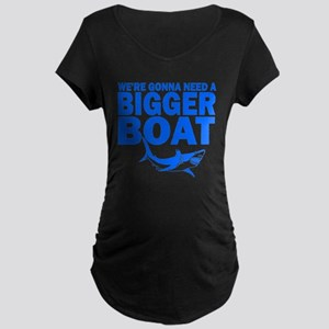 """...Bigger Boat"" Maternity Dark T-Shirt"