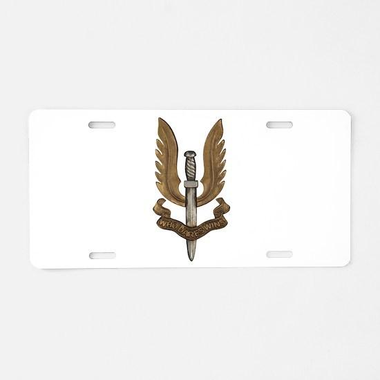 British SAS Aluminum License Plate