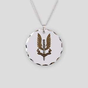 British SAS Necklace Circle Charm