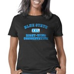 Blue State right wing trsp Women's Classic T-Shirt