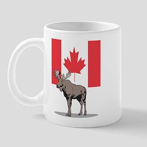 Moose With Canada Flag Mug