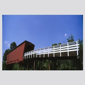 Low angle view of a covered bridge, Roseman Covere