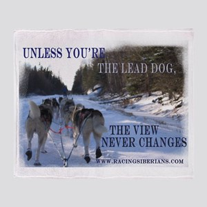 Lead Dog Throw Blanket
