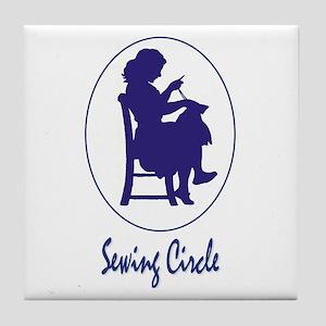 Sewing Circle Tile Coaster