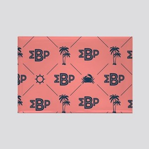 Sigma Beta Rho Pattern Coral Rectangle Magnet