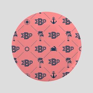 Sigma Beta Rho Pattern Coral Button