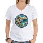 St Francis/Am Eskimo #3 Women's V-Neck T-Shirt