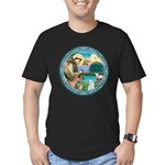 St Francis/Am Eskimo #3 Men's Fitted T-Shirt (dark