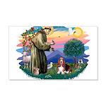 St.Francis #2/ Basset Hound 22x14 Wall Peel