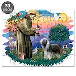 St.Francis #2/ Beardie (sw) Puzzle
