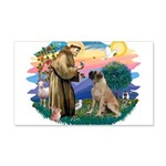 St.Francis #2/ Bull Mastiff 22x14 Wall Peel