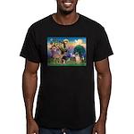 St Francis/Shar Pei #5 Men's Fitted T-Shirt (dark)