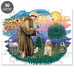 St.Francis #2/ Cocker (buff # Puzzle