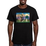 St Francis / Cocker (buff) Men's Fitted T-Shirt (d