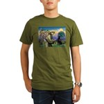 St. Fran/ Flat Coated Ret Organic Men's T-Shirt (d