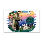 St.Francis #2/ Fr Bulldog (3) 22x14 Wall Peel