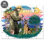 St.Francis #2/ Ger Shep (W) Puzzle