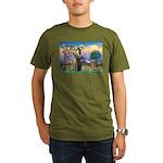 Saint Francis' Golden Organic Men's T-Shirt (dark)