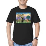 Saint Francis' Golden Men's Fitted T-Shirt (dark)