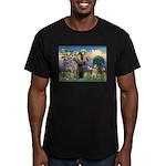 St Francis Golden Men's Fitted T-Shirt (dark)