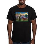 St. Fran./ Irish Setter Men's Fitted T-Shirt (dark
